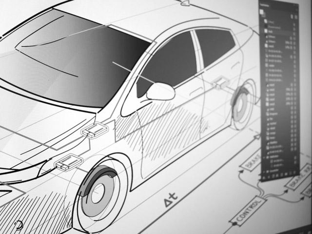 Werbeagentur Bayreuth - Zeichnung eines Autos